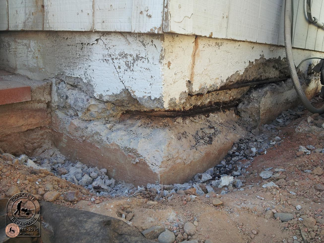 Download free cement foundation patch repair software for Concrete basement walls