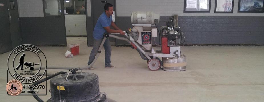 Concrete Grinding Floor Leveling Concrete Repairman LLC - Easiest way to level a floor