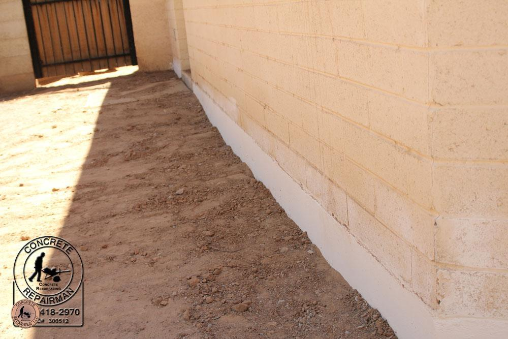 Repaired Foundation Stem Wall