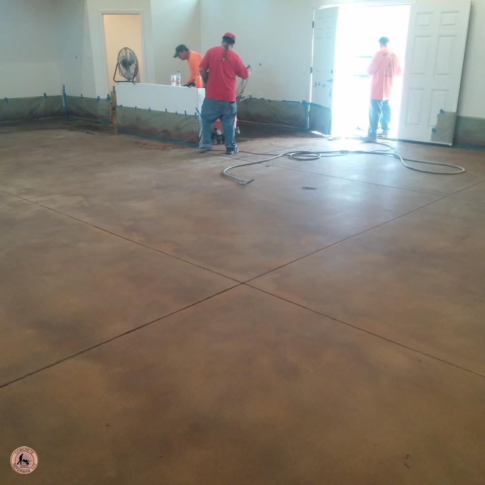 Big Game Room - Acid Stained Floor