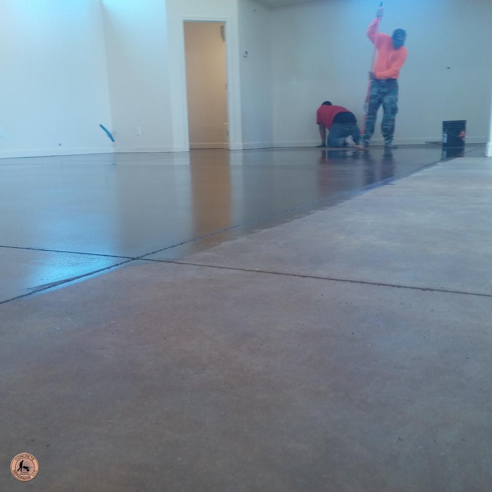 Big Game Room – Acid Stained Floor