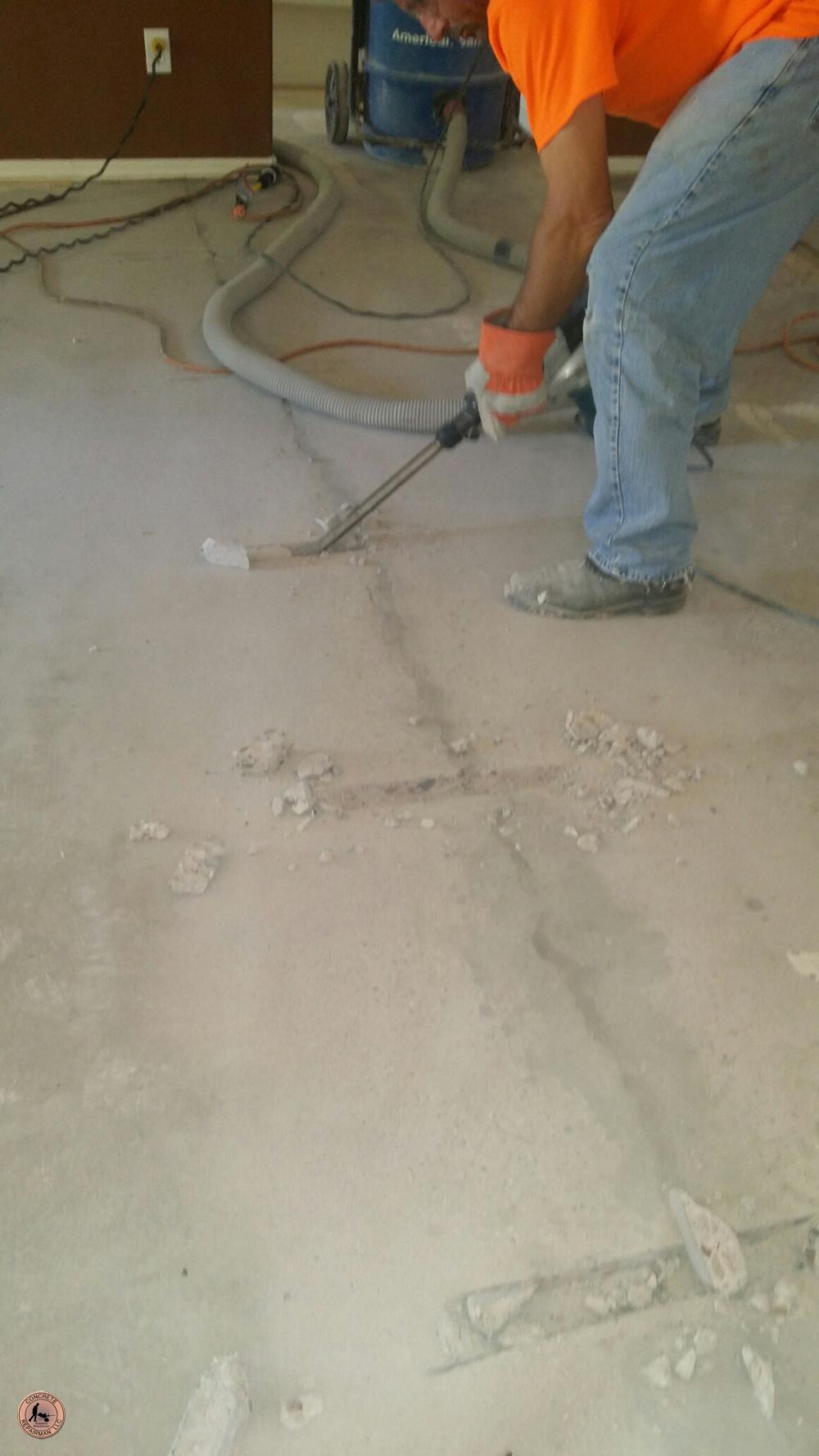 Structural Floor Crack Stitching Slab Stitching