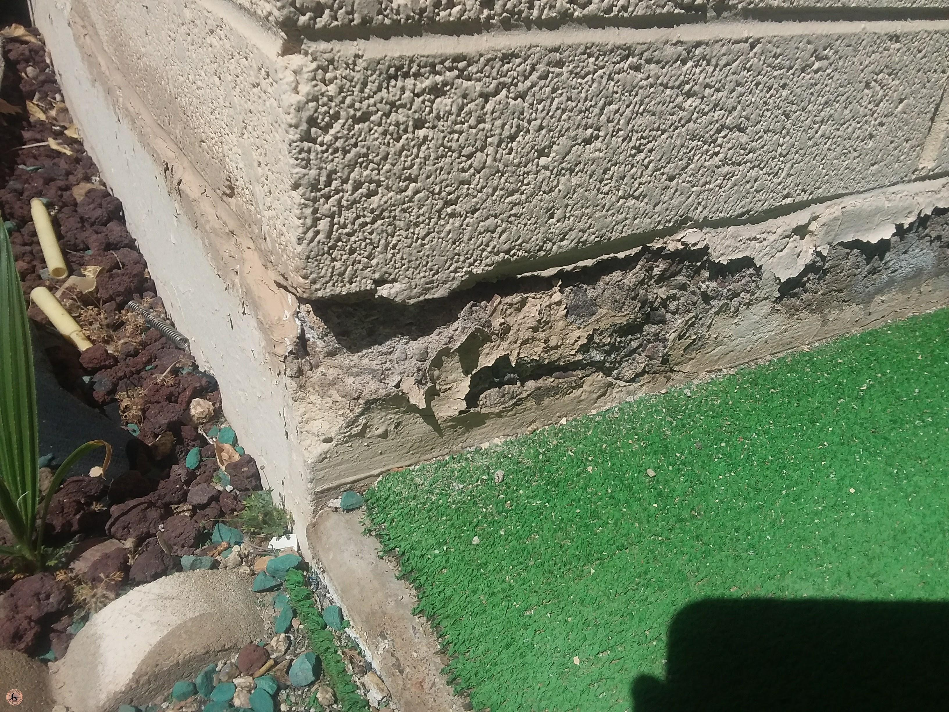 Stem Wall Foundation Problems Spalling Amp Water Damage