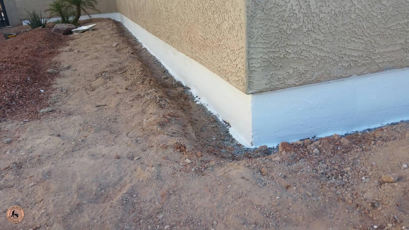 Post Tension Concrete Walls : Post tension foundation repair job phoenix concrete