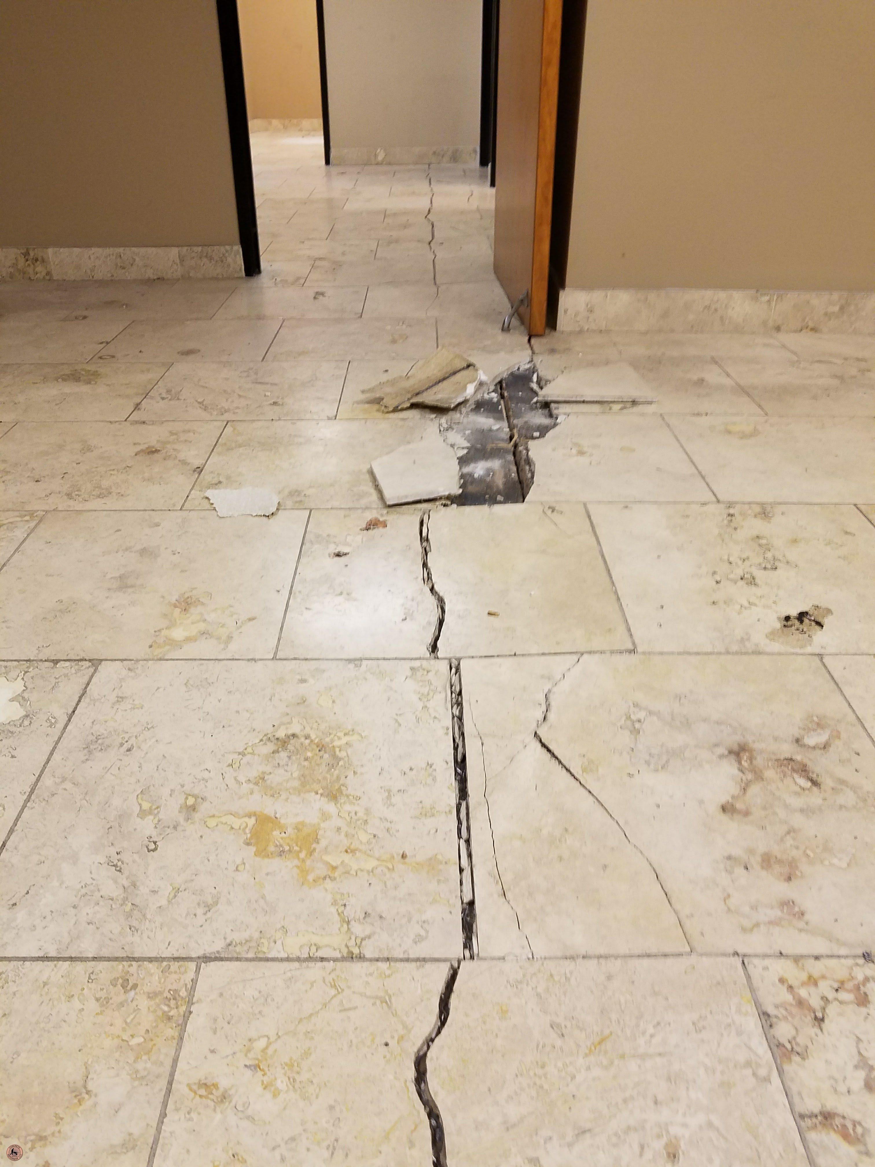 Foundation Settlement Warning Signs Causes And Solutions In Arizona - Cracked tile foundation problem